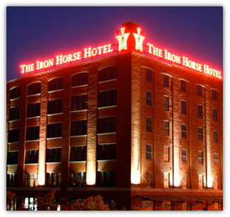 Iron Horse Hotel sign