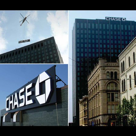Chase Bank business sign