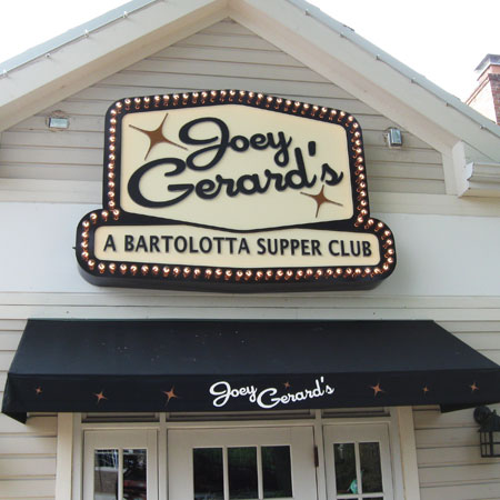 Joey Gerard's restaurant sign