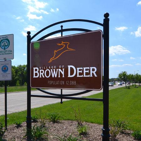 Brown Deer exterior municipality sign