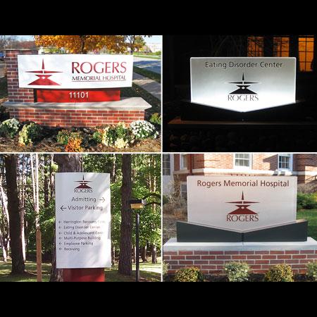 Rogers Memorial Hospital signage