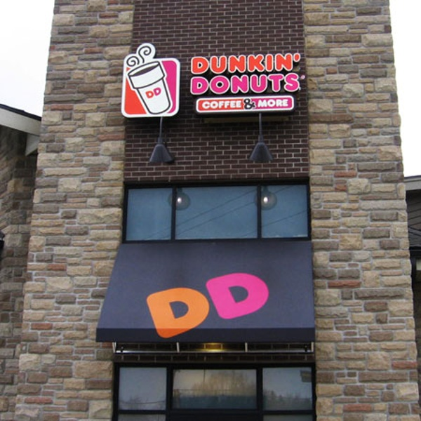 Dunkin Donuts exterior signage