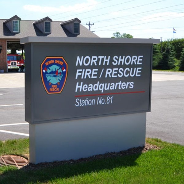 North Shore Fire and Rescue exterior sign