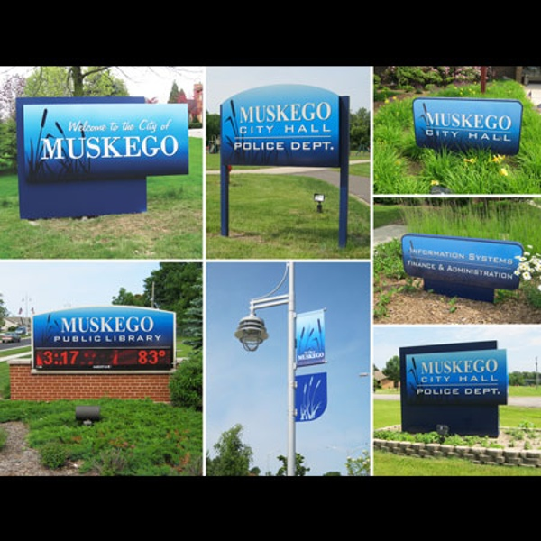 Muskego municipal business sign