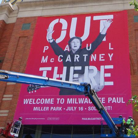 Paul McCartney banner sign