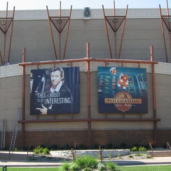 Potowatami Casino exterior banners