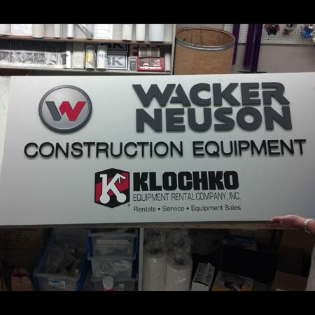 Wacker Neuson business sign