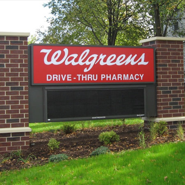 Walgreens electronic message center