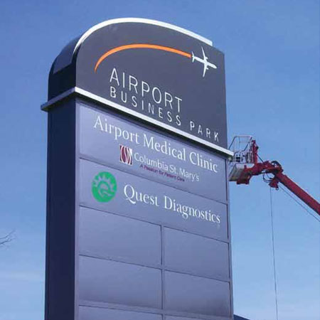 airport business sign