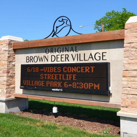 Brown Deer Village exterior sign