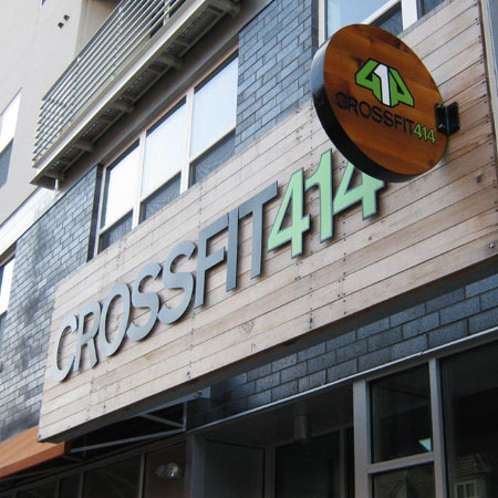 Cross Fit 414 business sign