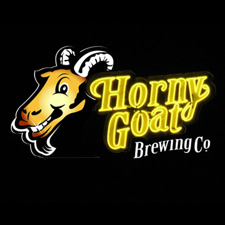 Horny Goat brewing company sign