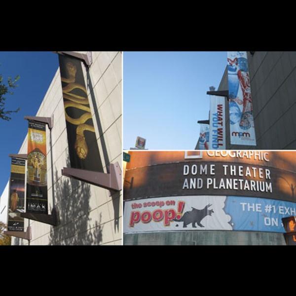 Milwaukee Public Museum exterior banners