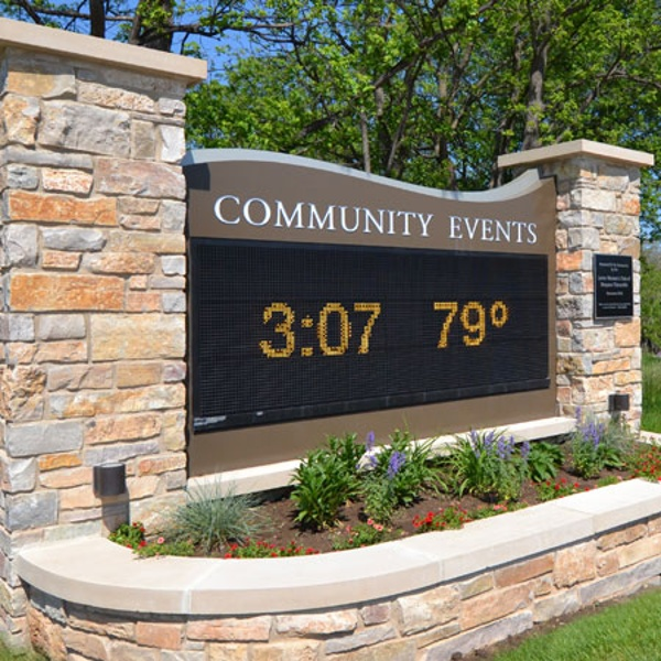Mequon municipal building sign