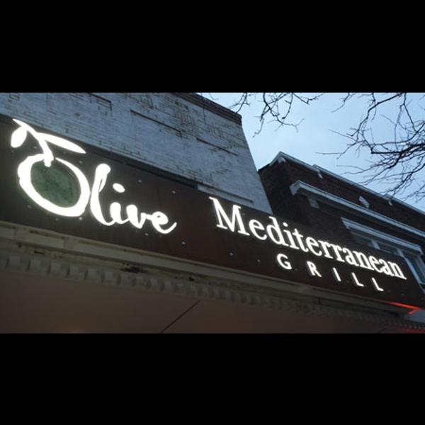 Olive Mediterranean Grill restaurant sign