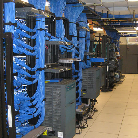 VCPI data room, data network cabling project