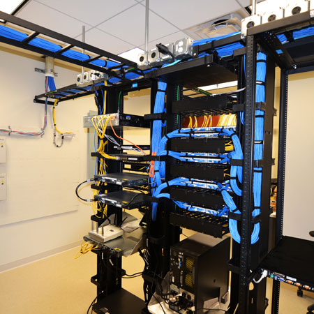 OCC Data Room, low voltage network cabling project