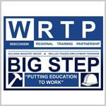 Logo for WRTP, Wisconsin Regional Training Partnership / Big Step