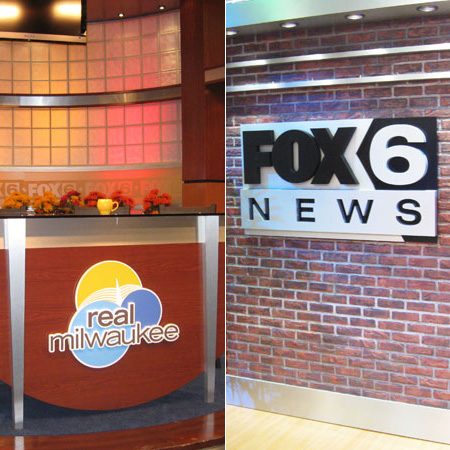 Fox 6 News interior sign
