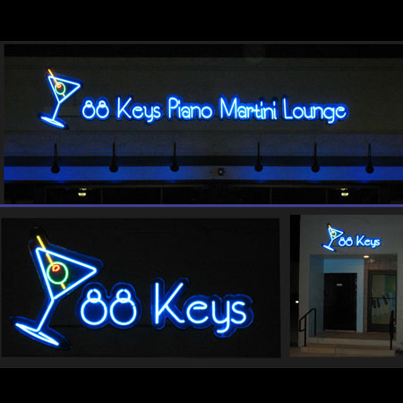 Neon bar sign, creative business signs