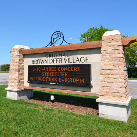 Exterior municipality sign, creative business signs