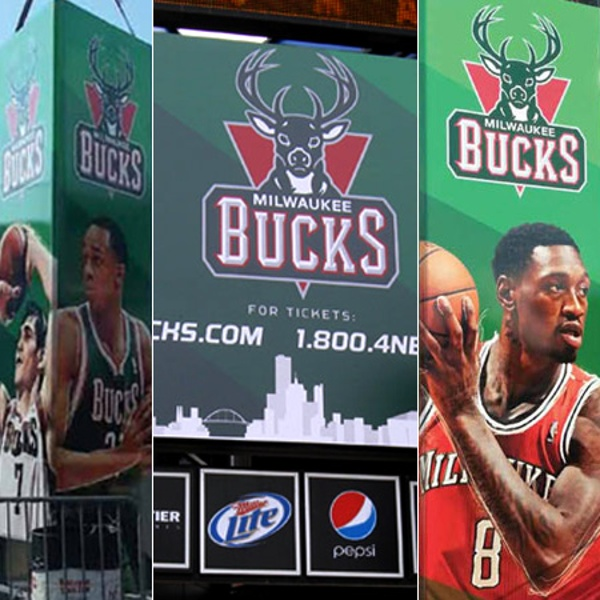 Milwaukee Bucks marquee sign