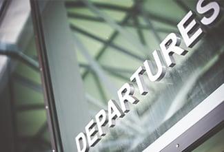 Departure signage for travelers