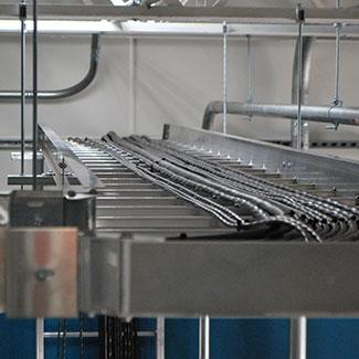 Electrical work at Metalspun.