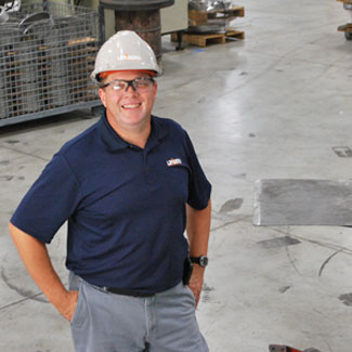 Tim Hagen, project manager for the electrical work done at Metalspun.