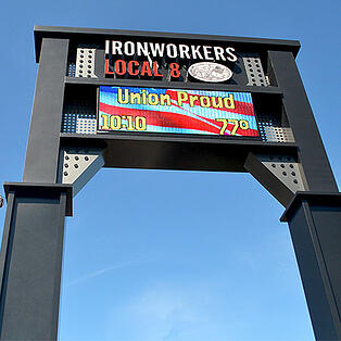 Ironworkers Local 8 Sign, Lemberg awarded 2nd place from Wisconsin Sign Association