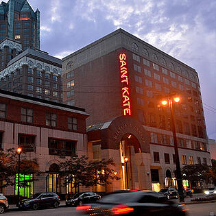 Saint Kate Arts Hotel, Lemberg awarded 1st place from Wisconsin Sign Association