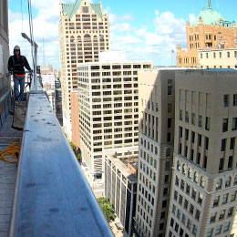 View from high rise installation site